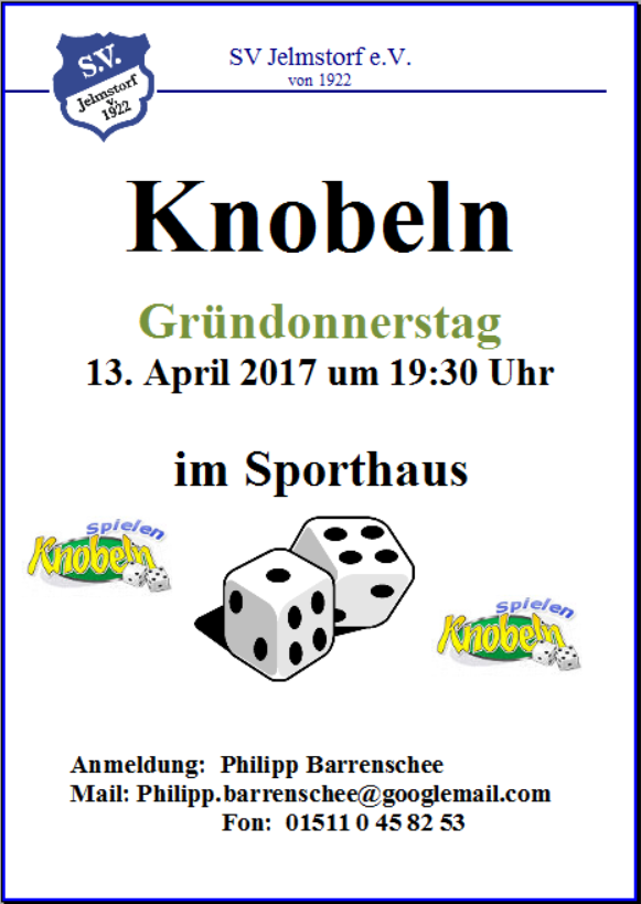 Knobeln 2017