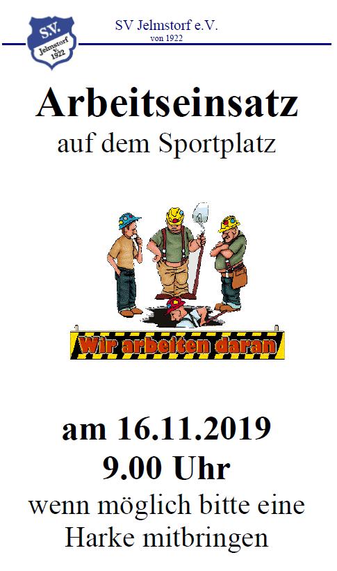 Arbeitseinsatz am 16.11.2019